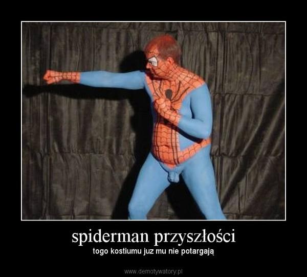 spiderman przyszłości – togo kostiumu juz mu nie potargają