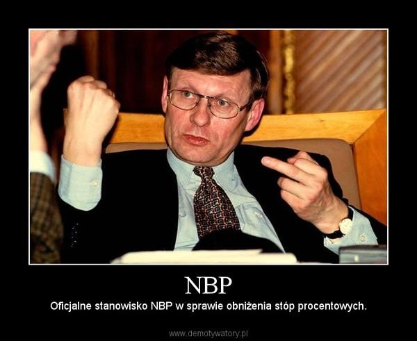 NBP – Oficjalne stanowisko NBP w sprawie obniżenia stóp procentowych.