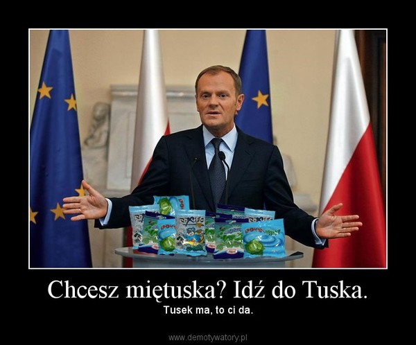 Chcesz miętuska? Idź do Tuska. – Tusek ma, to ci da.