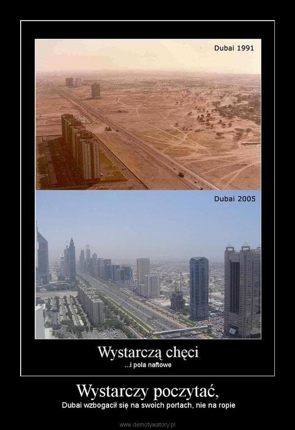Wystarczy poczytać, –  Dubai wzbogacił się na swoich portach, nie na ropie