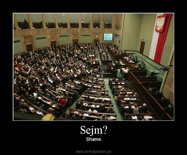 Sejm? –  Shame.