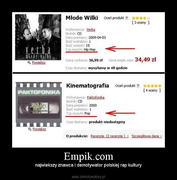Empik.com – najwiekszy znawca i demotywator polskiej rap kultury