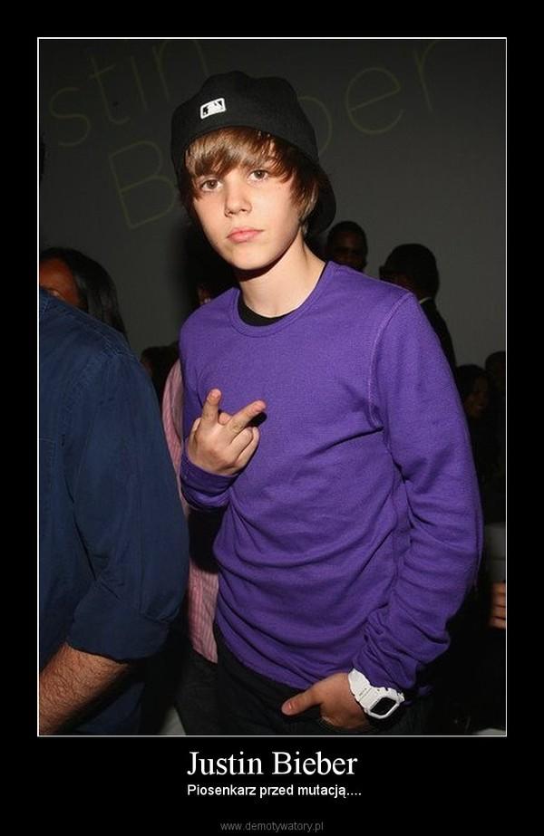Justin Bieber –  Piosenkarz przed mutacją....