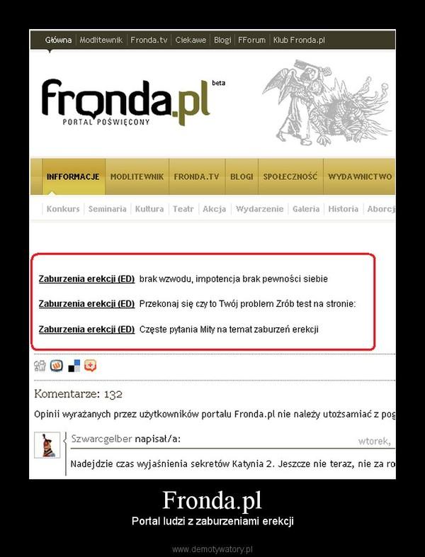 Fronda.pl – Portal ludzi z zaburzeniami erekcji