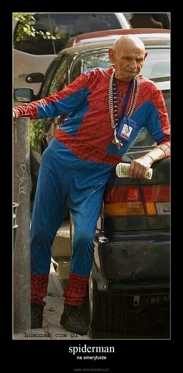 spiderman – na emeryturze