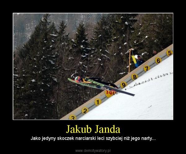 Jakub Janda – Jako jedyny skoczek narciarski leci szybciej niż jego narty...