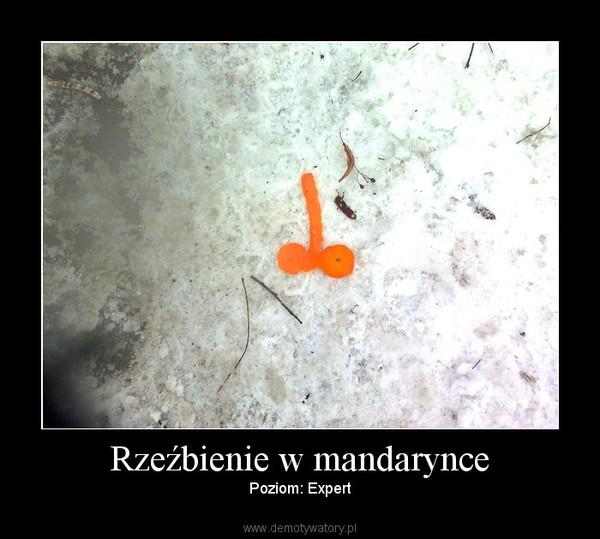 Rzeźbienie w mandarynce – Poziom: Expert