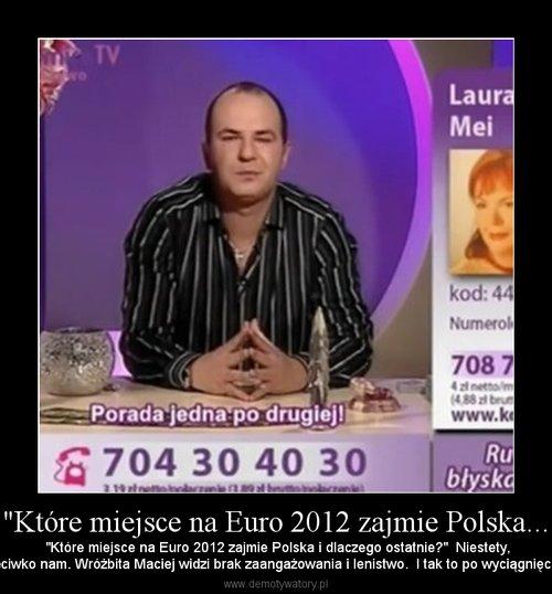 """""""Które miejsce na Euro 2012 zajmie Polska..."""