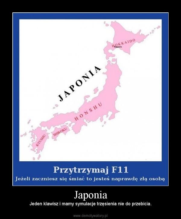 Japonia – Jeden klawisz i mamy symulacje trzęsienia nie do przebicia.