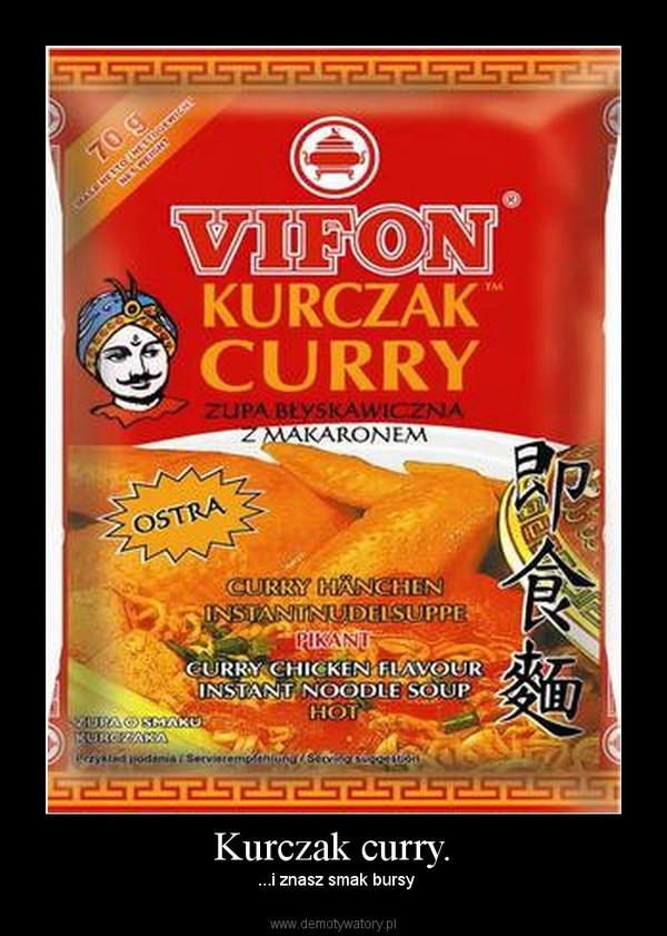 Kurczak curry. – ...i znasz smak bursy