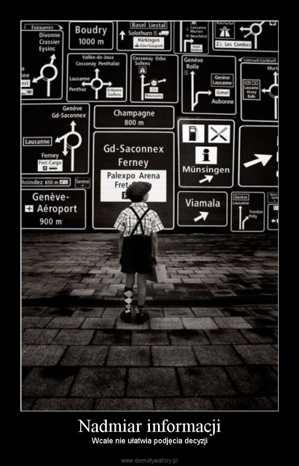Nadmiar informacji – Wcale nie ułatwia podjęcia decyzji