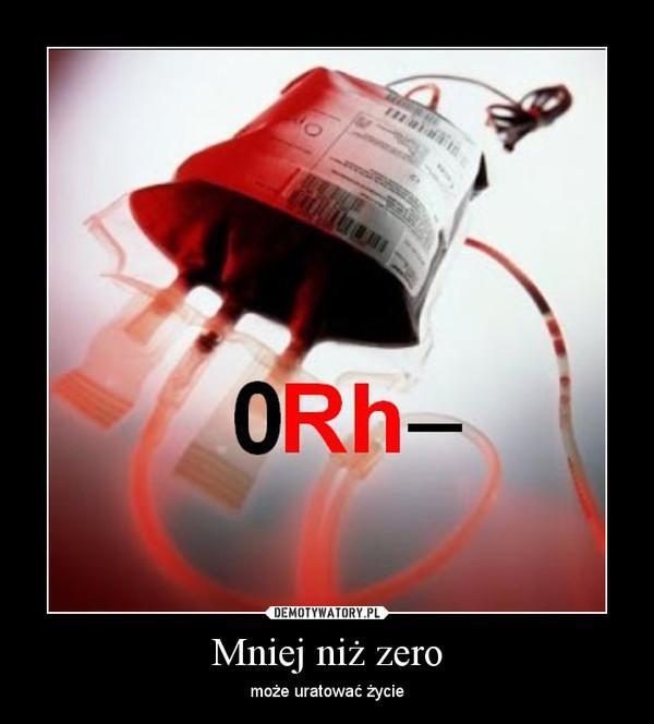 Mniej niż zero – może uratować życie