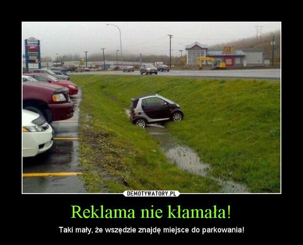 Reklama nie kłamała! – Taki mały, że wszędzie znajdę miejsce do parkowania!