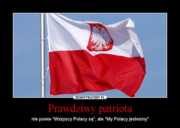 """Prawdziwy patriota – nie powie """"Wszyscy Polacy są"""", ale """"My Polacy jesteśmy"""""""