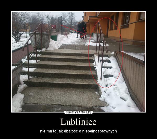 Lubliniec – nie ma to jak dbałość o niepełnosprawnych