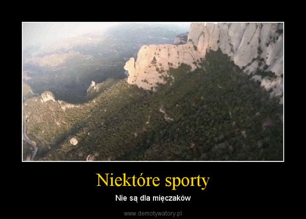 Niektóre sporty – Nie są dla mięczaków