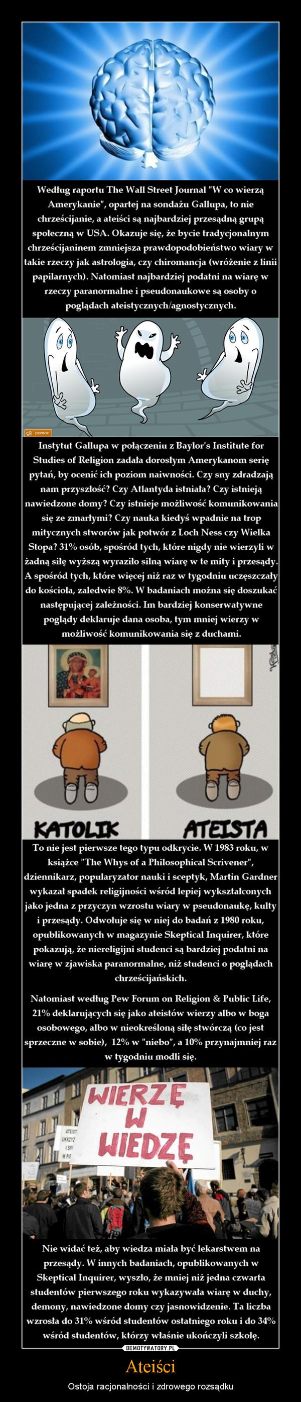 Ateiści – Ostoja racjonalności i zdrowego rozsądku