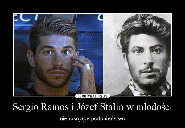 Sergio Ramos i Józef Stalin w młodości – niepokojące podobieństwo