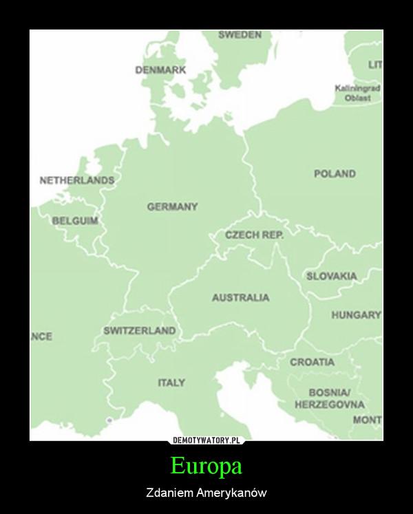 Europa – Zdaniem Amerykanów