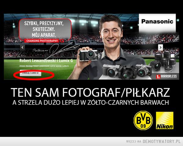 Ten sam fotograf/piłkarz –