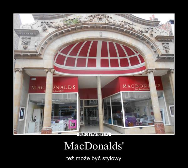 MacDonalds' – też może być stylowy