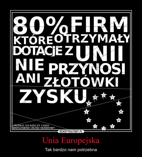 Unia Europejska – Tak bardzo nam potrzebna