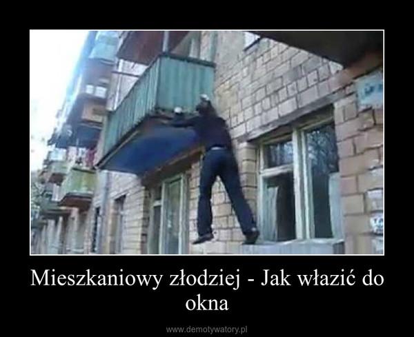 Mieszkaniowy złodziej - Jak włazić do okna –