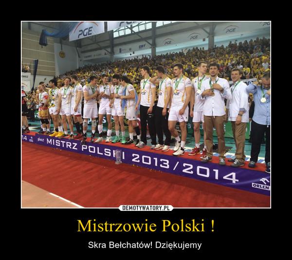 Mistrzowie Polski ! – Skra Bełchatów! Dziękujemy