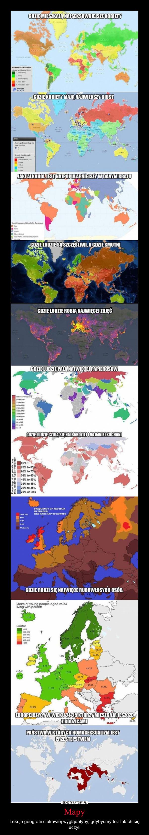 Mapy – Lekcje geografii ciekawiej wyglądałyby, gdybyśmy też takich się uczyli