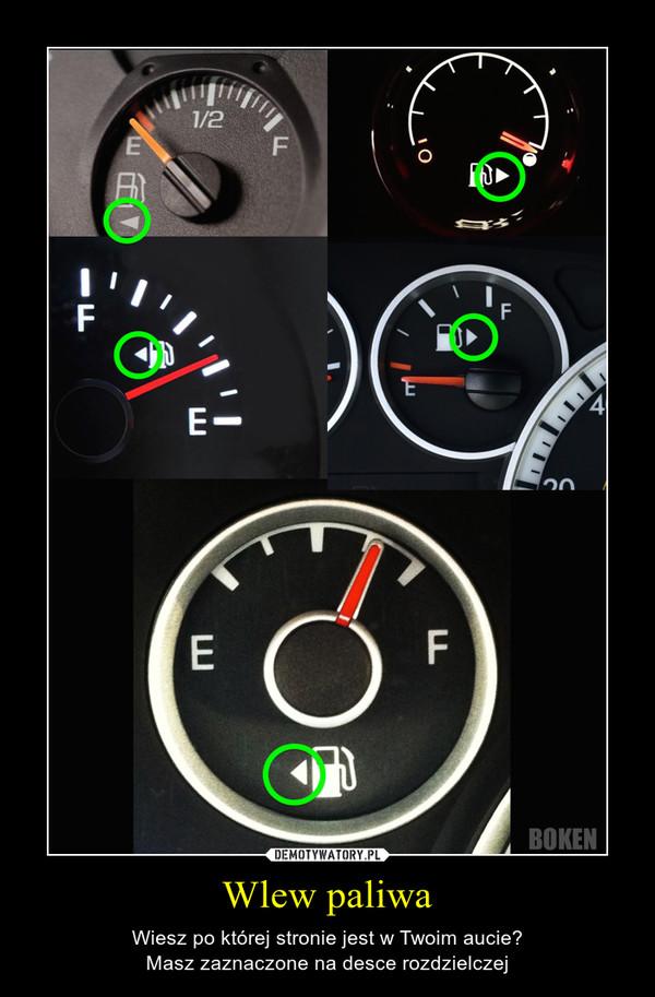 Wlew paliwa – Wiesz po której stronie jest w Twoim aucie?Masz zaznaczone na desce rozdzielczej