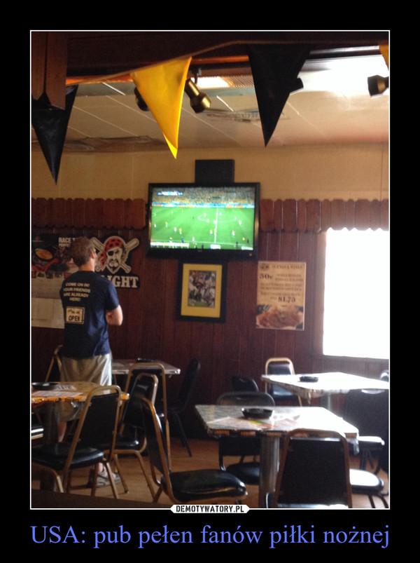 USA: pub pełen fanów piłki nożnej –