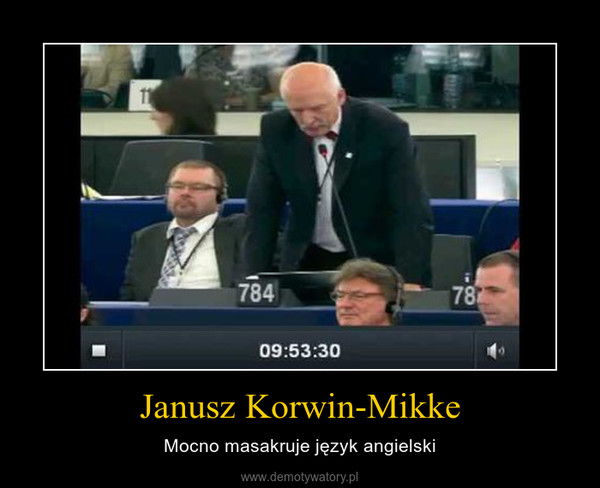 Janusz Korwin-Mikke – Mocno masakruje język angielski