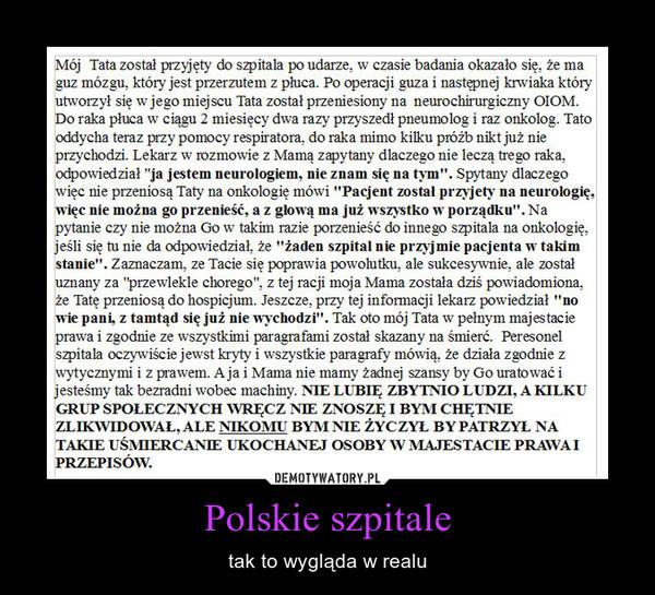Polskie szpitale – tak to wygląda w realu