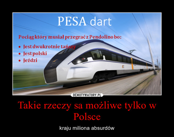 Takie rzeczy sa możliwe tylko w Polsce – kraju miliona absurdów