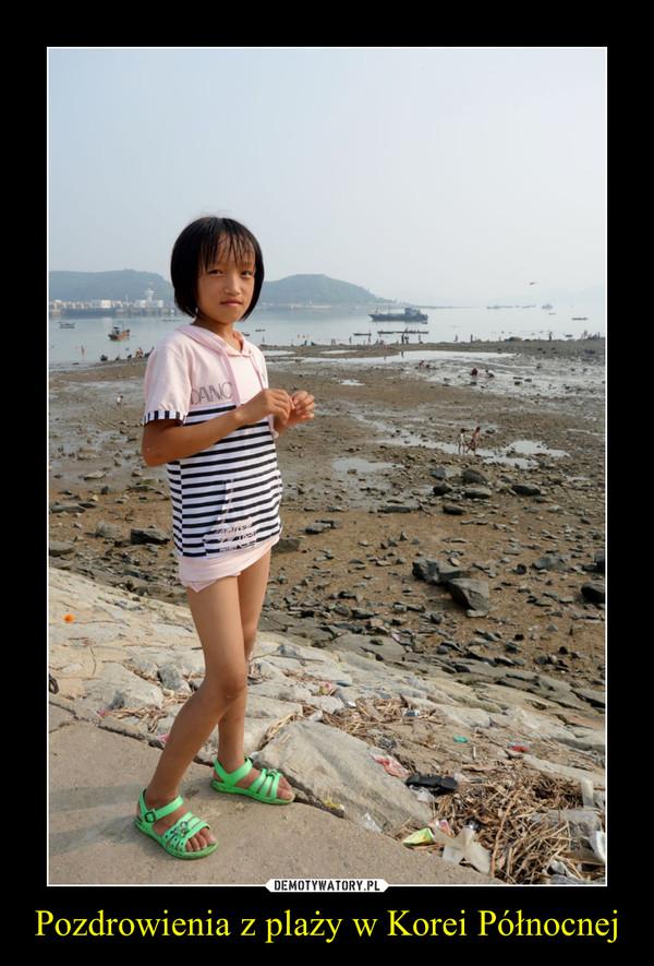Pozdrowienia z plaży w Korei Północnej –