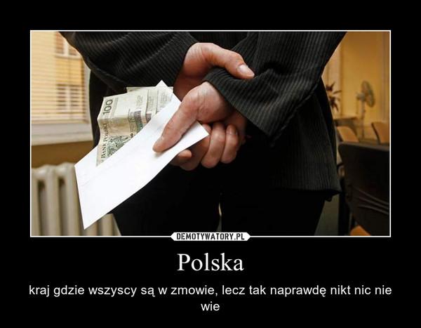 Polska – kraj gdzie wszyscy są w zmowie, lecz tak naprawdę nikt nic nie wie