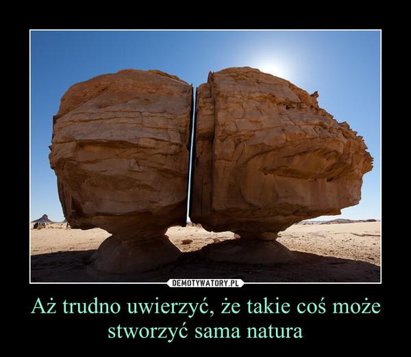 Aż trudno uwierzyć, że takie coś może stworzyć sama natura –
