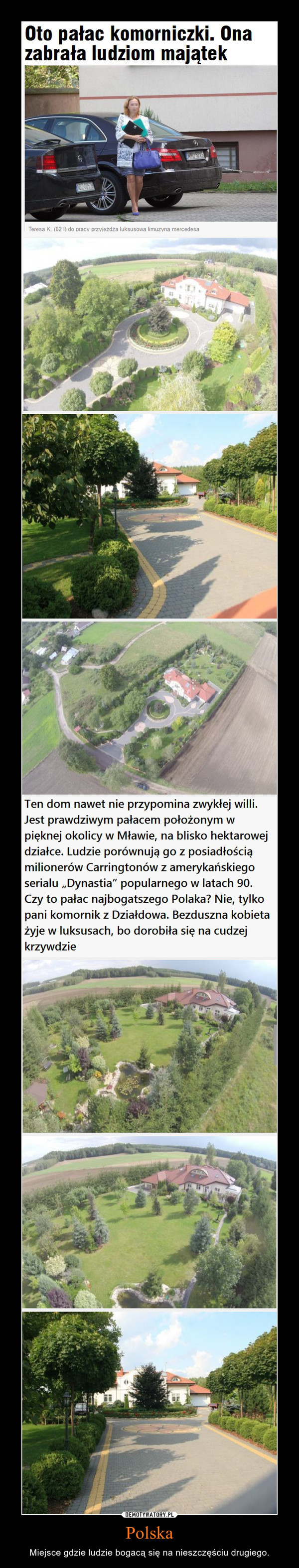 Polska – Miejsce gdzie ludzie bogacą się na nieszczęściu drugiego.