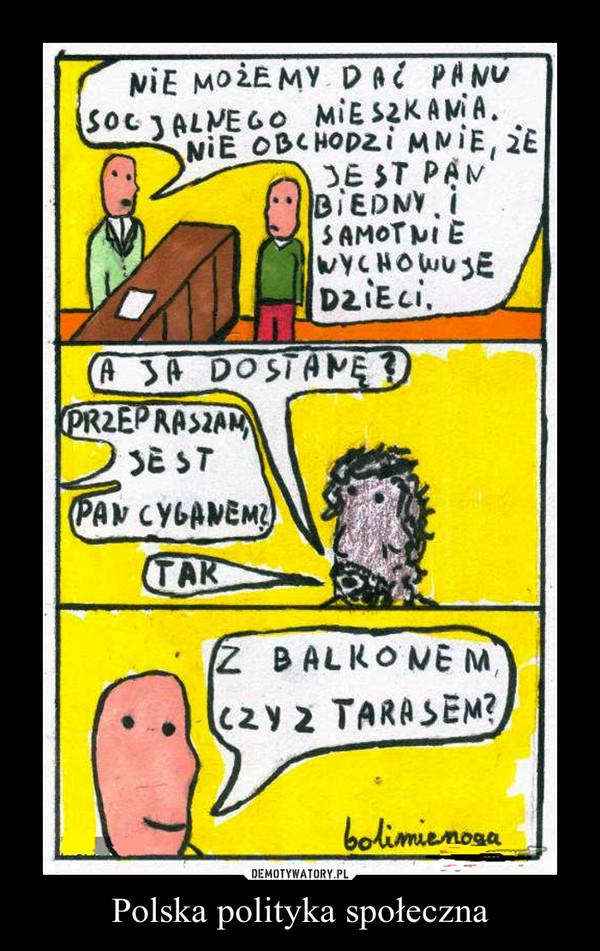 Polska polityka społeczna –