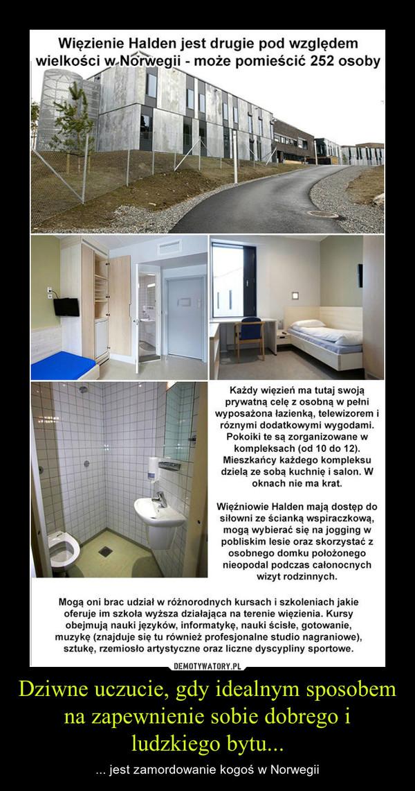 Dziwne uczucie, gdy idealnym sposobem na zapewnienie sobie dobrego i ludzkiego bytu... – ... jest zamordowanie kogoś w Norwegii