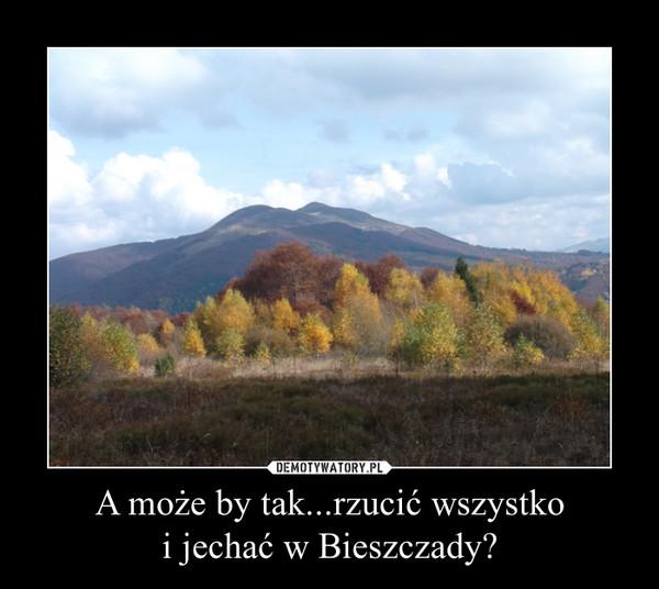 A może by tak...rzucić wszystko i jechać w Bieszczady? –