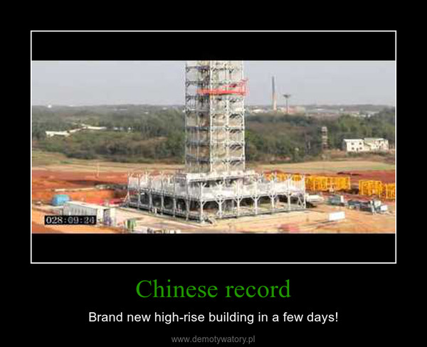 Chinese record – Brand new high-rise building in a few days!