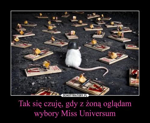 Tak się czuję, gdy z żoną oglądam wybory Miss Universum