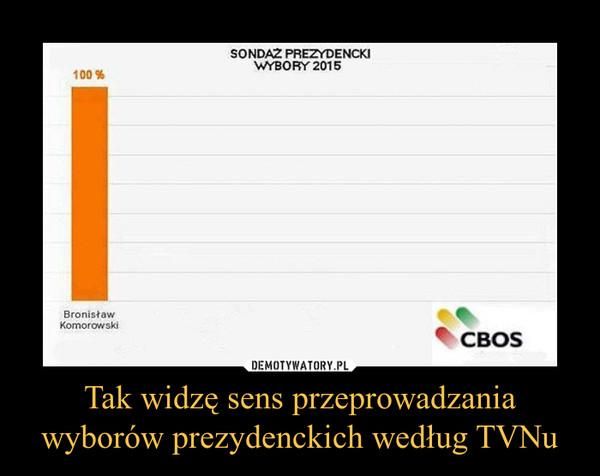 Tak widzę sens przeprowadzania wyborów prezydenckich według TVNu –