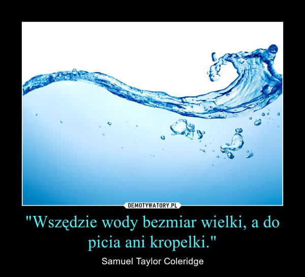 """""""Wszędzie wody bezmiar wielki, a do picia ani kropelki."""" – Samuel Taylor Coleridge"""