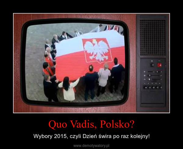 Quo Vadis, Polsko? – Wybory 2015, czyli Dzień świra po raz kolejny!