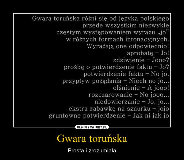 Gwara toruńska – Prosta i zrozumiała