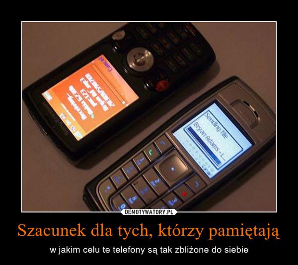 Szacunek dla tych, którzy pamiętają – w jakim celu te telefony są tak zbliżone do siebie