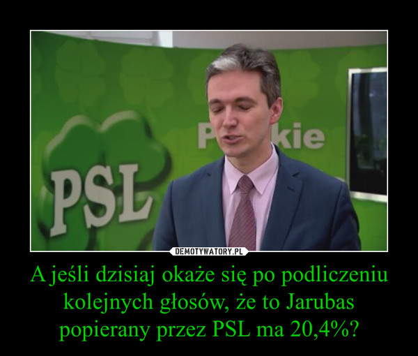A jeśli dzisiaj okaże się po podliczeniu kolejnych głosów, że to Jarubas popierany przez PSL ma 20,4%? –