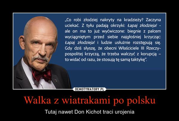Walka z wiatrakami po polsku – Tutaj nawet Don Kichot traci urojenia
